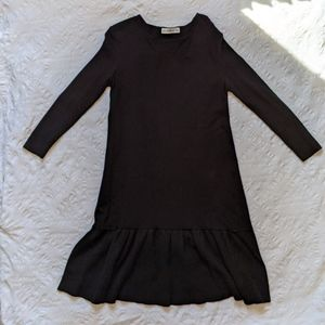 ZARA Knit Light Black Dress Medium